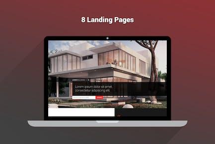 Lander - Mehrzweck-Landing-HTML-Seiten