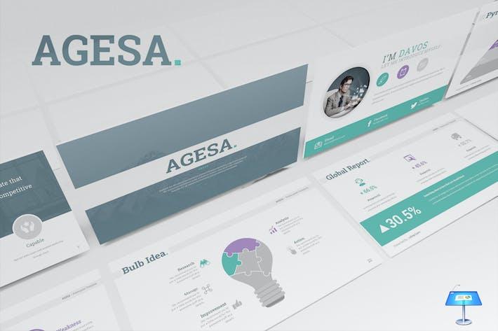 Thumbnail for Шаблон Keynote Agesa