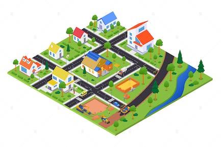 Housing Complex under Construction - Illustration