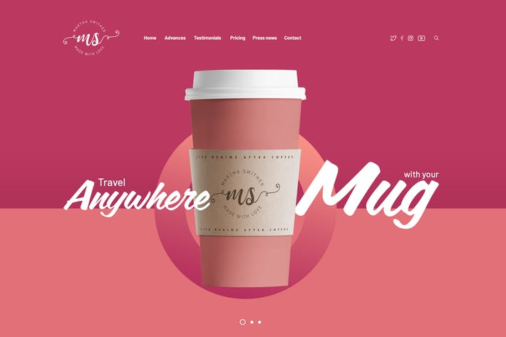 Thumbnail for The Mug Creative Single Product Template Design