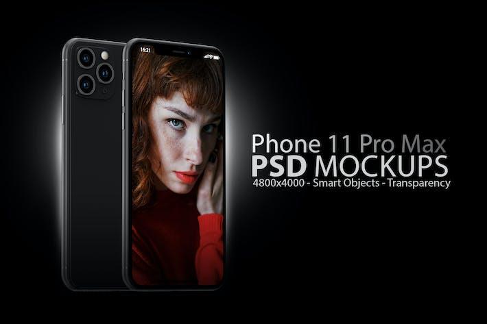 Thumbnail for Phone 11 Black PSD Mockups
