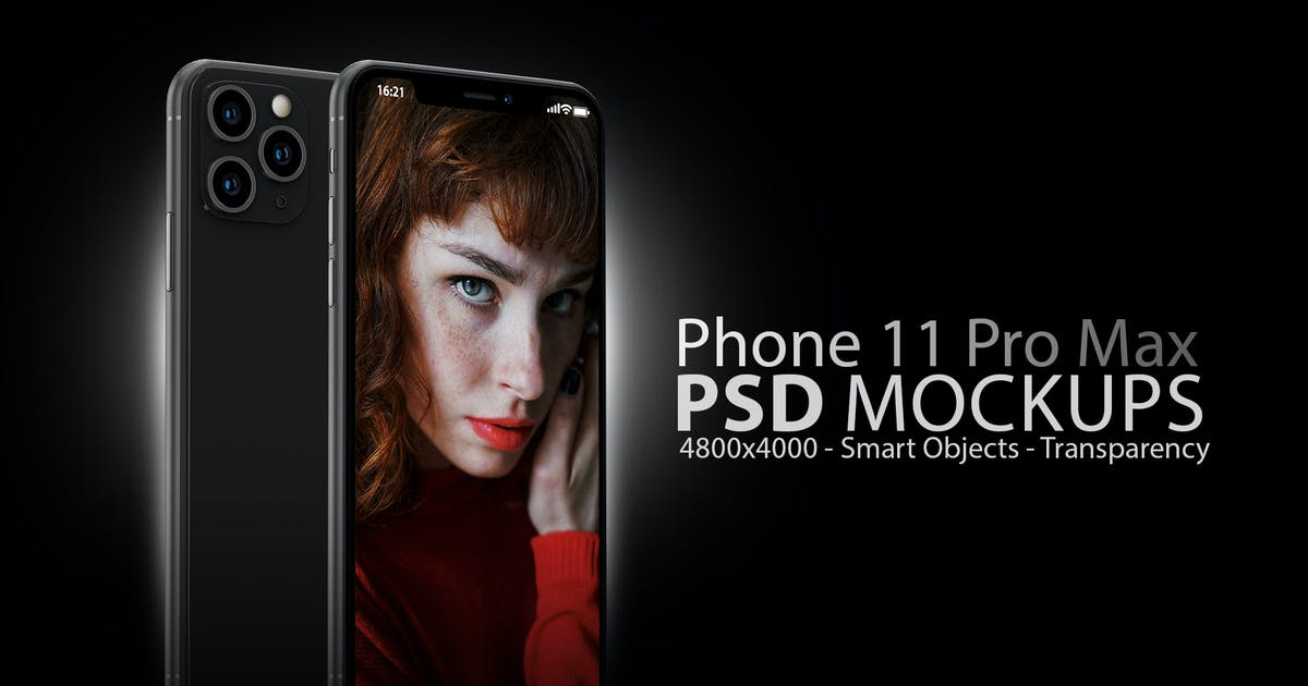 Download Phone 11 Black PSD Mockups by Abdelrahman_El-masry