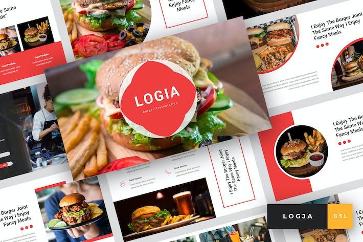 Thumbnail for Logja - гамбургер Google слайды Шаблон