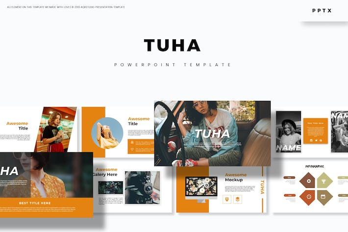 Cover Image For Tuha - Powerpoint Template