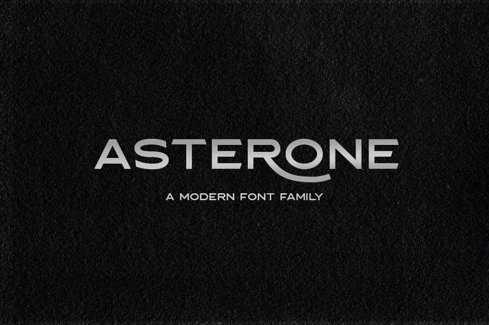 Thumbnail for Asterone - Modern Font Family