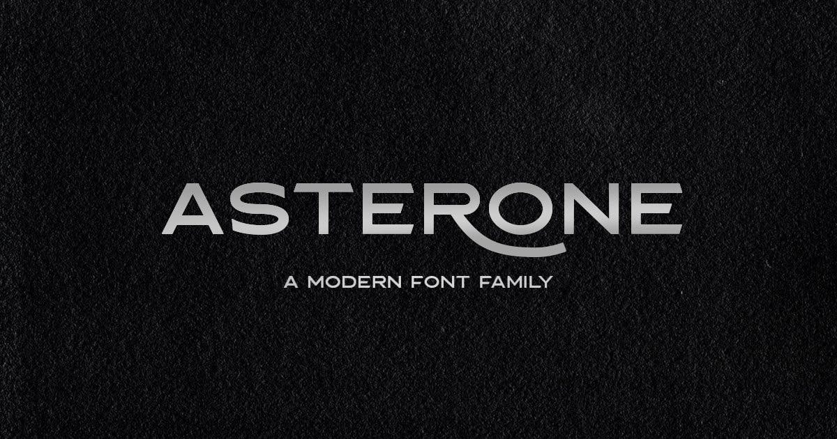 Download Asterone - Modern Font Family by letterhend