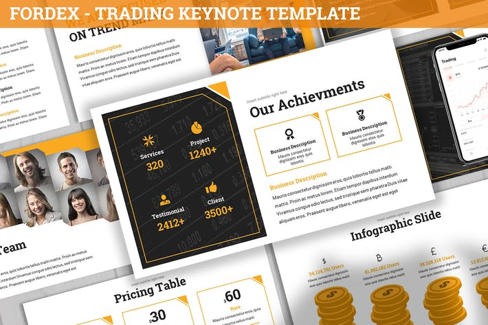 Thumbnail for Fordex - Trading Keynote Template