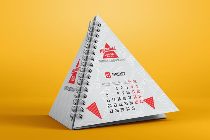 Thumbnail for Pyramid Calendar Mockup