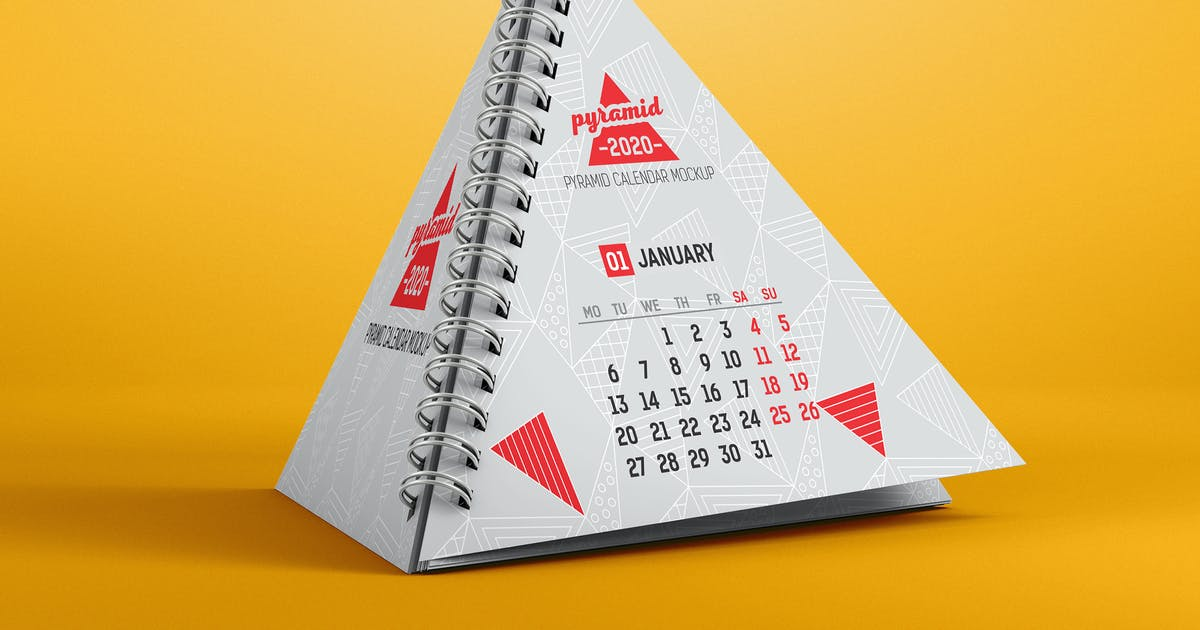 Download Pyramid Calendar Mockup by StreetD