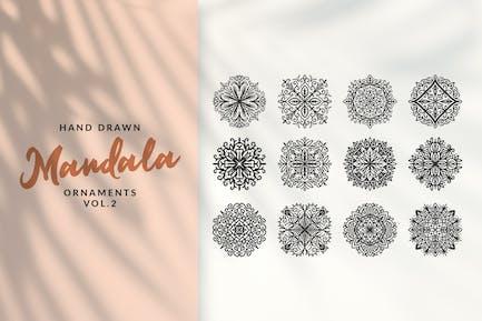 Hand Drawn Mandala Ornaments Vol.2