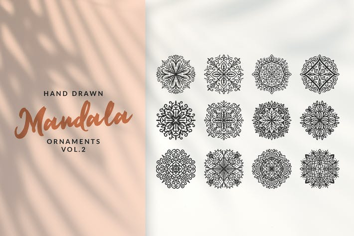 Thumbnail for Ornements Mandala dessinés à la main Vol.2