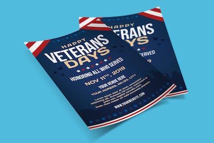 US Veterans Days Flyer