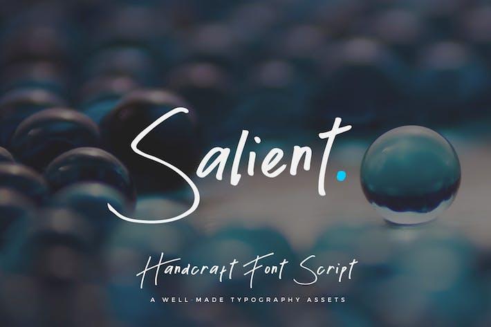 Thumbnail for Salient - Handmade Font Script