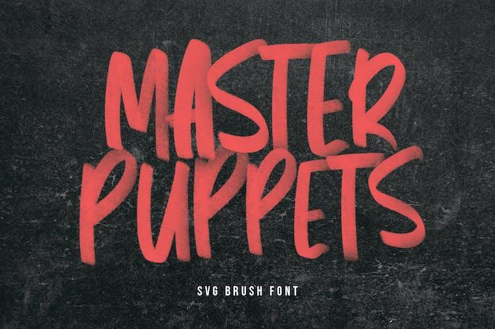 Thumbnail for Master Puppets SVG Brush Sans Handmade Font Type