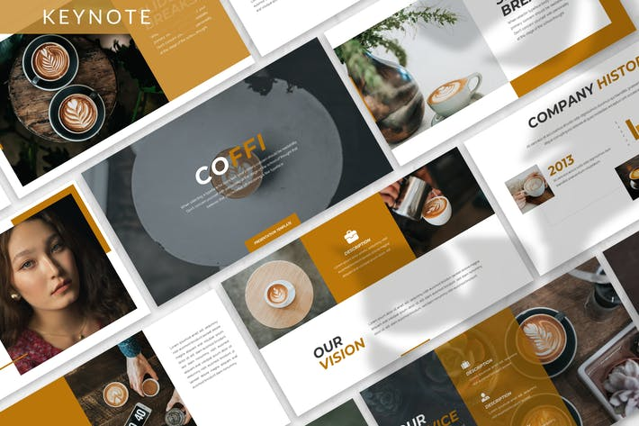 Thumbnail for Coffi - Business Keynote Template