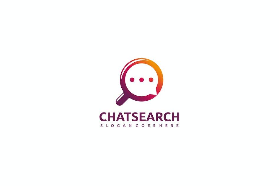 Download Chat search Logo by 3ab2ou