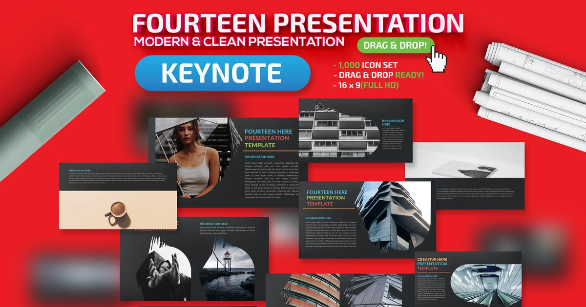 Download Fourteen Keynote Presentation Tempalte by mamanamsai
