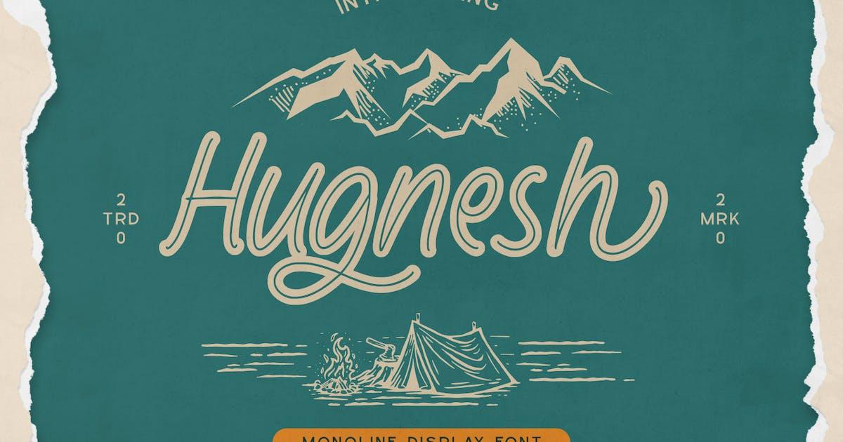 Download Hugnesh-Monoline Display Font by YumnaStudio