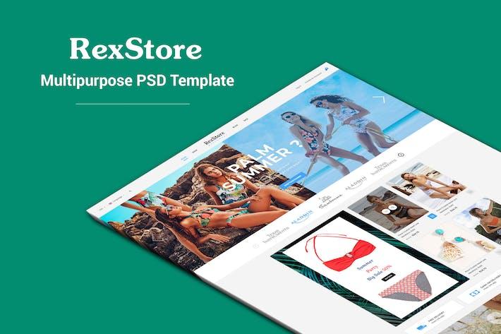 Thumbnail for RexStore - Multipurpose Fashion PSD Template