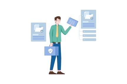 File and Folder Flat Illustration