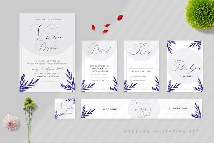 Thumbnail for Wedding Invitation Set Vol 08