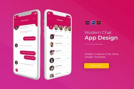 Chat Inbox | App Design Template
