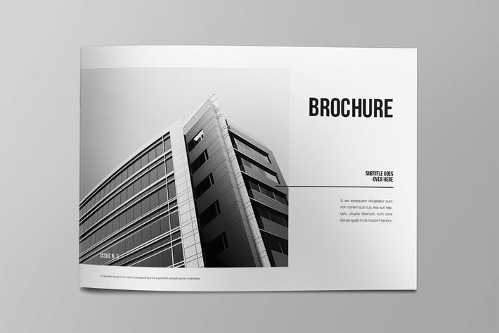 Thumbnail for Minimal Black & White Architecture Brochure