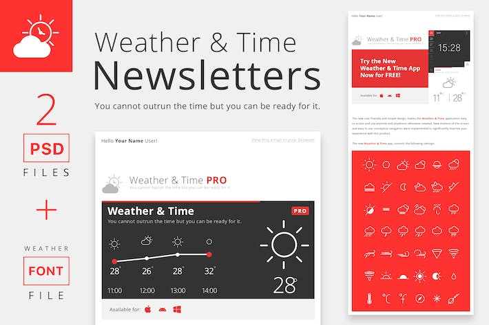 Thumbnail for Weather and Time Newsletters