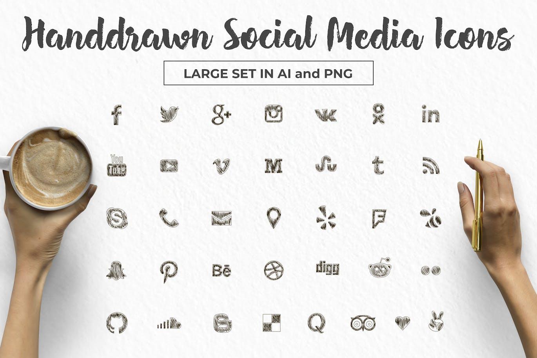 top 50 free social media icon sets