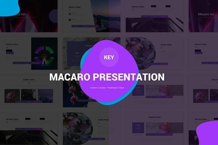 Thumbnail for Macaro - Keynote Template