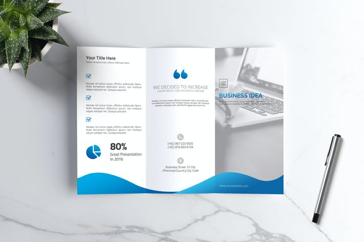 Thumbnail for Company Trifold Brochure Vol. 01