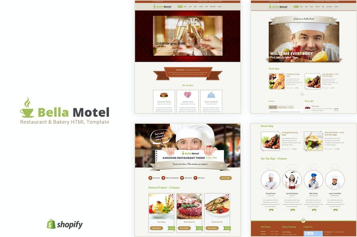 Cover Image For Bella Motel - Restaurant & Bakery Responsive HTML