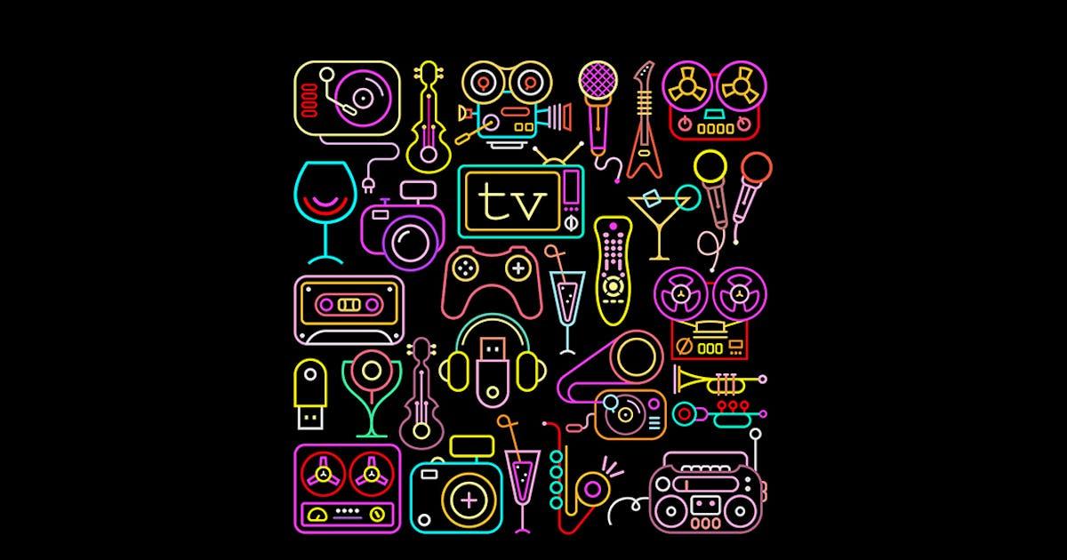 Download Neon Colors Entertainment Icon Set by danjazzia