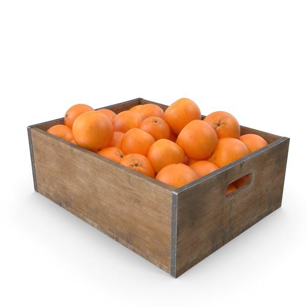 Orangenfarbene Obstkiste