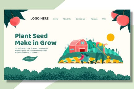 Farmer Seeding  - Landing Page