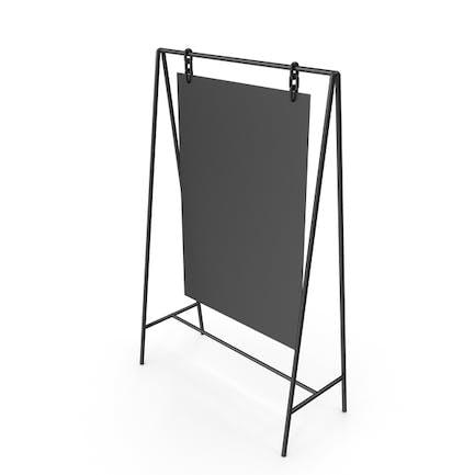 Schwarzer Display-Ständer