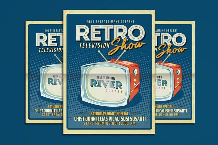 Thumbnail for Retro TV show Flyer Poster