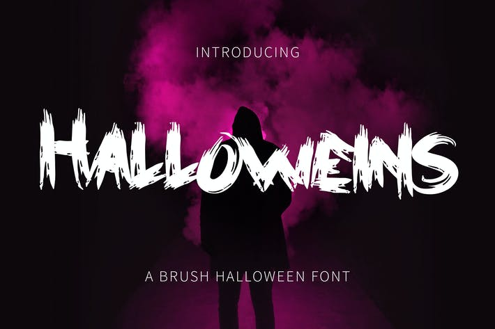 Thumbnail for Halloweins - Brush Font DR