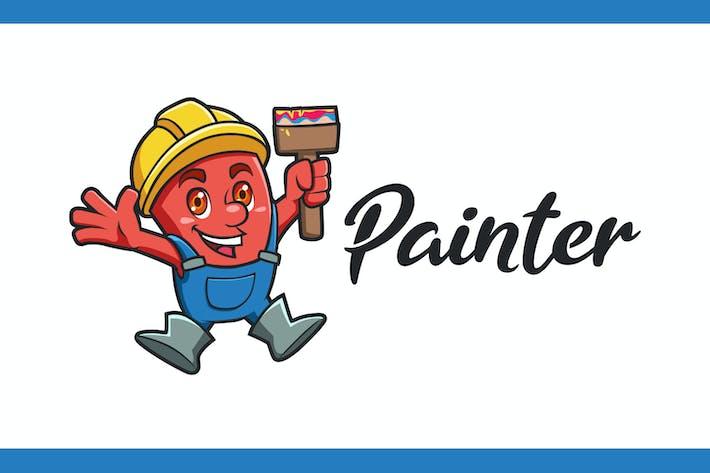Thumbnail for Cute Little Monster Painter Mascot Logo