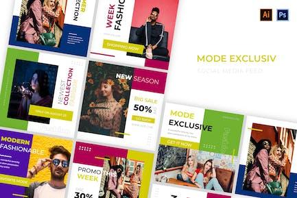 Mode Exclusive Social Media
