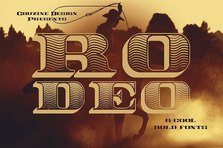 Thumbnail for Rodeo Typeface