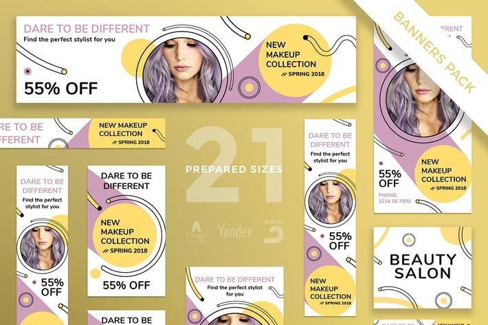 Thumbnail for Makeup Cosmetics Banner Pack Template