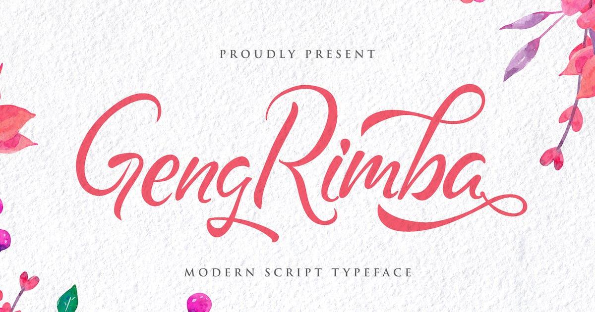 Download Geng Rimba - Modern Script Font by StringLabs