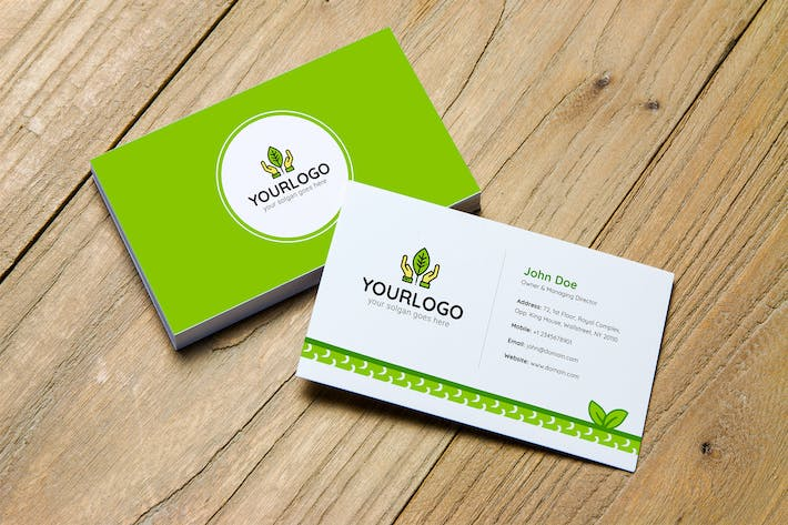 Thumbnail for Green Business Card Template