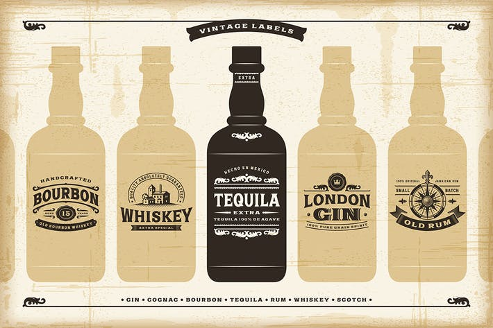 Thumbnail for Vintage Alcohol Labels Collection