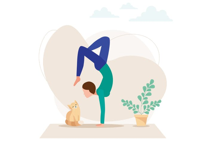 Thumbnail for Yoga Pose Vector Illustration