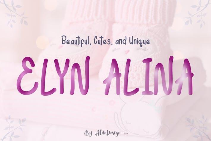 Thumbnail for Elyn Alina - Handmade Font