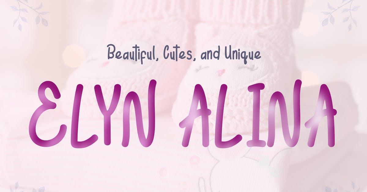 Download Elyn Alina - Handmade Font by aldedesign