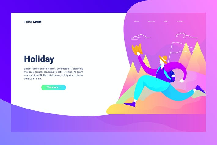 Thumbnail for Holiday - Landing Page