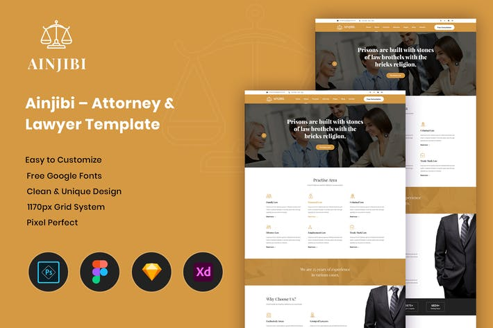 Thumbnail for Ainjibi – Attorney and Lawyer Template